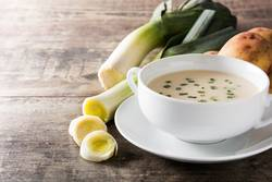 French vichyssoise soup in bowl