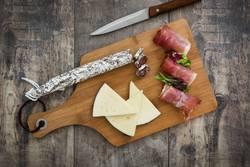 Spanish serrano ham, cheese and sausage