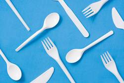 Disposable plastic tableware pattern