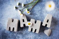 Muttertagsgrüße aus Betonbuchstaben