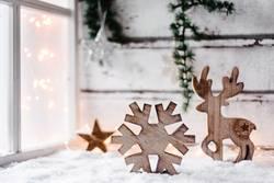 Weihnachtlich, winterlicher Hintergrund mit Textfreiraum