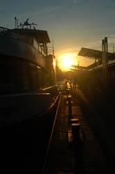 Hamburger Hafen im Spätsommer