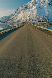 lonely road in winter II , lofoten - norway