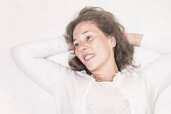mature woman in relaxing moment
