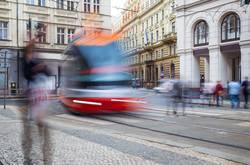 Tram in der Prager Altstadt, Tschechien