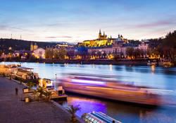 Boot auf der Moldau, Prag