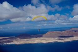Lanzarote im Anflug