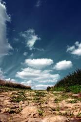 ein weg mit himmel