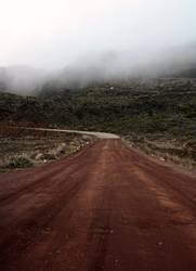 Weg zum Vulkan