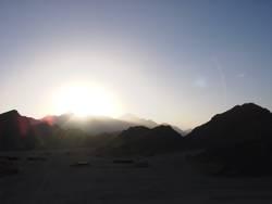 desert sun set