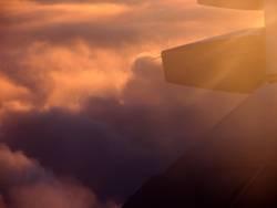 sun set flight