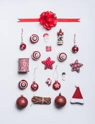 Weihnachten Dekoration Objekte auf weiß