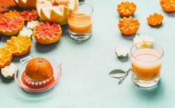 Saft von verschiedenen Zitrusfrüchten