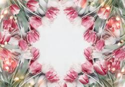 Tulpen Rahmen Hintergrund