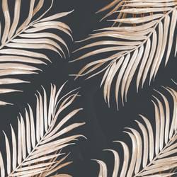Hell goldenes gebogenes Palmblatt Muster