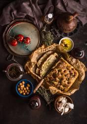 Traditionelles italienisches Focaccia Brot
