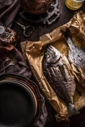 Gebratene Dorado Fische