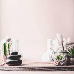 Spa Hintergrund mit Zen-Steine