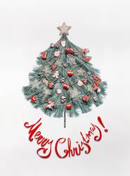 Weihnachtskarte mit Weihnachtsbaum