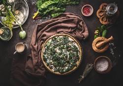 Quiche mit Mangold Gemüse