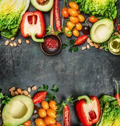 Frisches Gemüse für leckeres vegane und gesundes Kochen