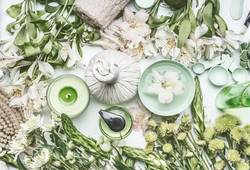 Grüne Natur Kosmetik und Wellness Zubehör