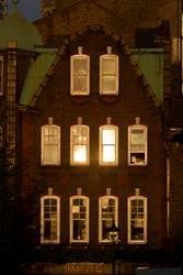 Front eines alten Hauses in London