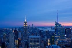 Midtown New York City at sunset III