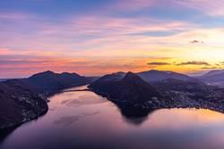 Sonnenuntergang über dem Lago di Lugano