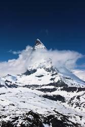 Matterhorn in Wolken