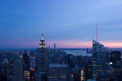 Midtown New York City at sunset II