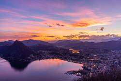 Sonnenuntergang über dem Lago di Lugano II