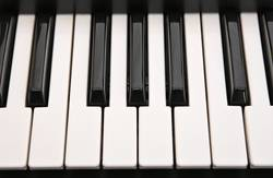 Musical keyboard background pattern