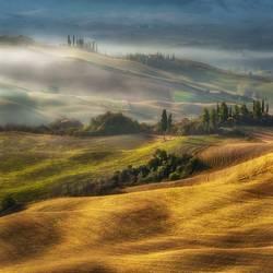 .... Morgen auf dem Hügel in der Toskana