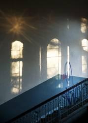 Treppenhaus, Spätnachmittag