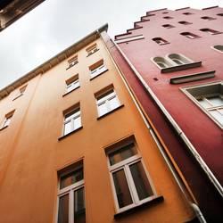 abstützende Altbauten