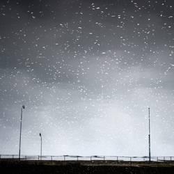 Sternenhimmel-Fake über Brücke | unscharf