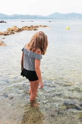 A la plage désertée de Saint Tropez