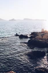 le soir à la mer