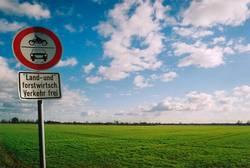 grüne Wiese trifft blauen Himmel
