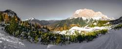 panoramic - ehtwand and zugspitze - austria