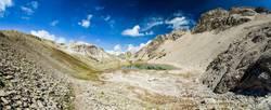 hiking trail in lech - austria