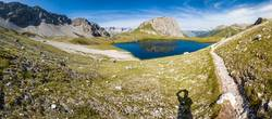 hiking trail in lech - austria - kogelsee