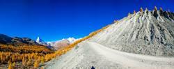 Panorama am Findelgletscher Zermatt - Wallis - Schweiz