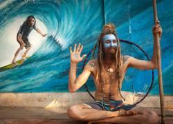 Blauer Shiva