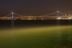 Suchlichter am Ma Wan Kanal