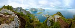 A panoramic view from Lofoten Island, Norway