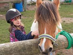 Mädchen mit Pony