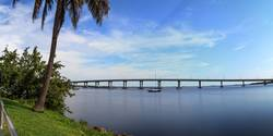 Edison Bridge over the Caloosahatchee River in Fort Myers