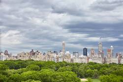 Stormy clouds over Central Park, NYC.